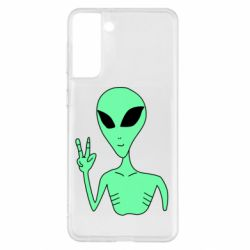 Чохол для Samsung S21+ Alien and two fingers