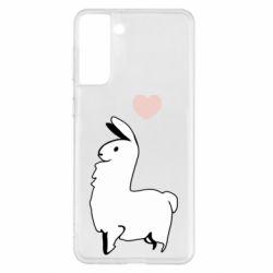 Чохол для Samsung S21+ Alpaca with a heart