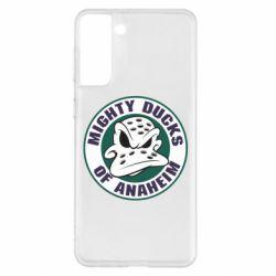 Чехол для Samsung S21+ Anaheim Mighty Ducks Logo
