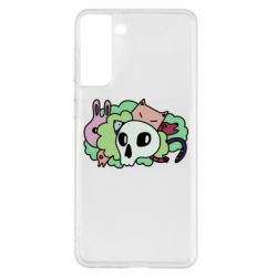 Чехол для Samsung S21+ Animals and skull in the bushes