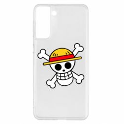 Чохол для Samsung S21+ Anime logo One Piece skull pirate