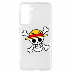 Чохол для Samsung S21 Anime logo One Piece skull pirate