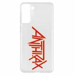 Чохол для Samsung S21+ Anthrax red logo