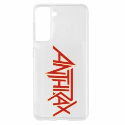 Чохол для Samsung S21 Anthrax red logo