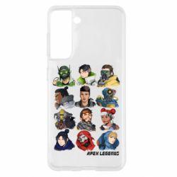 Чохол для Samsung S21 Apex legends heroes