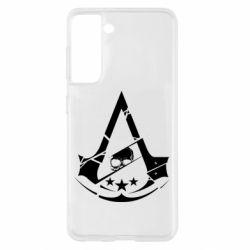 Чехол для Samsung S21 Assassin's Creed and skull 1
