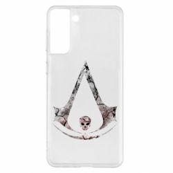 Чехол для Samsung S21+ Assassins Creed and skull