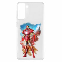 Чохол для Samsung S21+ Avengers iron man drawing