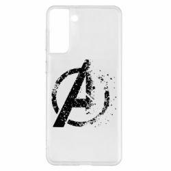 Чехол для Samsung S21+ Avengers logotype destruction