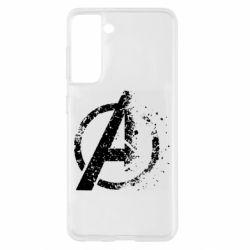 Чехол для Samsung S21 Avengers logotype destruction