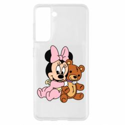 Чохол для Samsung S21 Baby minnie and bear