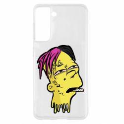 Чехол для Samsung S21 Bart as Lil Peep