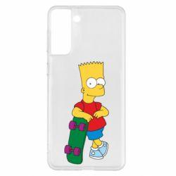 Чохол для Samsung S21+ Bart Simpson