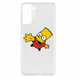 Чехол для Samsung S21+ Барт Симпсон