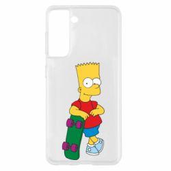 Чохол для Samsung S21 Bart Simpson