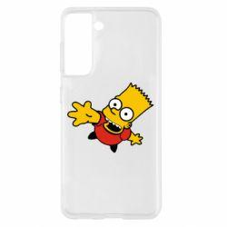 Чехол для Samsung S21 Барт Симпсон