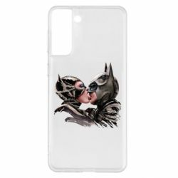 Чехол для Samsung S21+ Batman and Catwoman Kiss