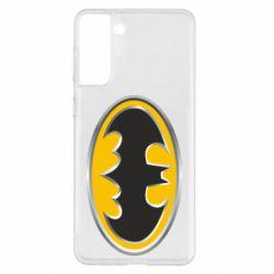 Чехол для Samsung S21+ Batman Gold Logo