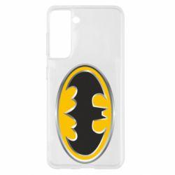 Чехол для Samsung S21 Batman Gold Logo