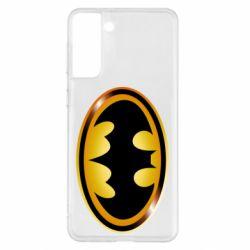 Чохол для Samsung S21+ Batman logo Gold