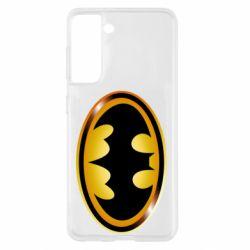 Чохол для Samsung S21 Batman logo Gold
