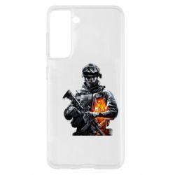 Чехол для Samsung S21 Battlefield Warrior