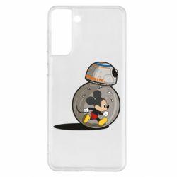 Чехол для Samsung S21+ BB-8 and Mickey Mouse