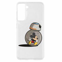 Чехол для Samsung S21 BB-8 and Mickey Mouse