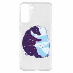 Чохол для Samsung S21+ Bear day and night