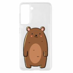 Чехол для Samsung S21 Bear with a smile
