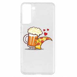 Чохол для Samsung S21+ Beer and Pizza were kissed
