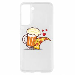 Чохол для Samsung S21 Beer and Pizza were kissed