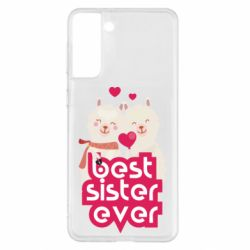 Чохол для Samsung S21+ Best sister ever