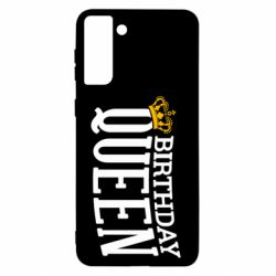 Чехол для Samsung S21+ Birthday queen and crown yellow