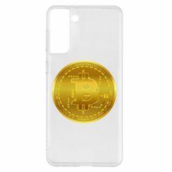 Чохол для Samsung S21+ Bitcoin coin