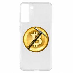 Чохол для Samsung S21+ Bitcoin Hammer