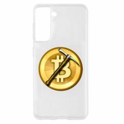 Чохол для Samsung S21 Bitcoin Hammer