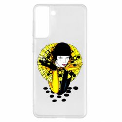 Чехол для Samsung S21+ Black and yellow clown