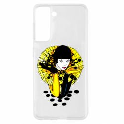 Чехол для Samsung S21 Black and yellow clown