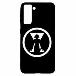 Чохол для Samsung S21 Black Widow logo