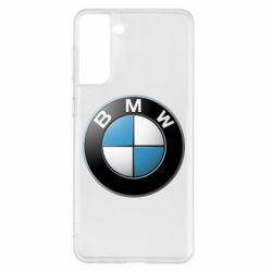Чехол для Samsung S21+ BMW Logo 3D