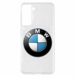 Чехол для Samsung S21 BMW Logo 3D