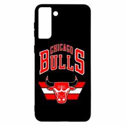 Чохол для Samsung S21+ Великий логотип Chicago Bulls