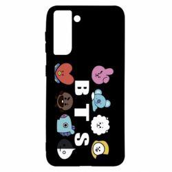 Чохол для Samsung S21 Bts emoji