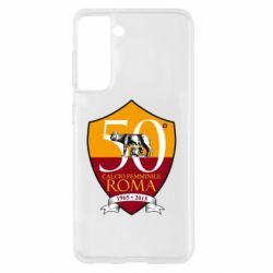 Чохол для Samsung S21 Calcio Femminile Roma