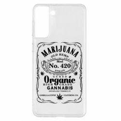 Чохол для Samsung S21+ Cannabis label