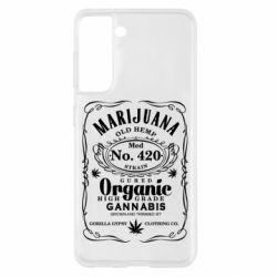 Чохол для Samsung S21 Cannabis label