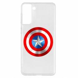 Чехол для Samsung S21+ Captain America 3D Shield