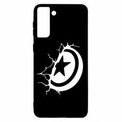 Чохол для Samsung S21+ Captain America shield