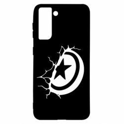 Чохол для Samsung S21 Captain America shield